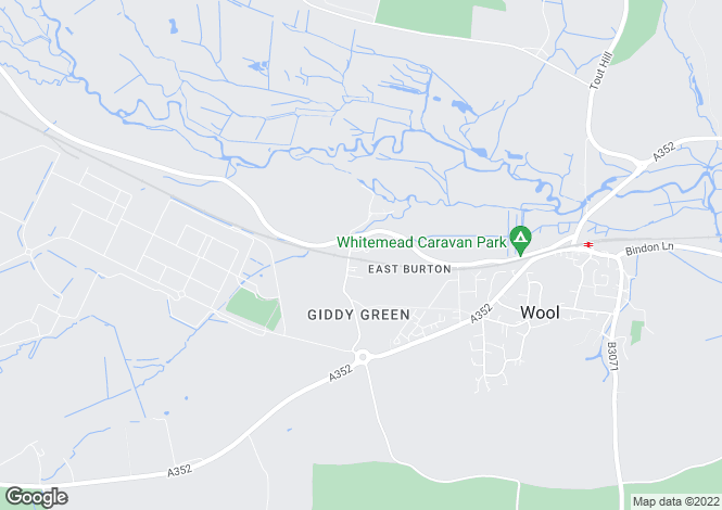 Map for Sandhills Crescent,  East Burton