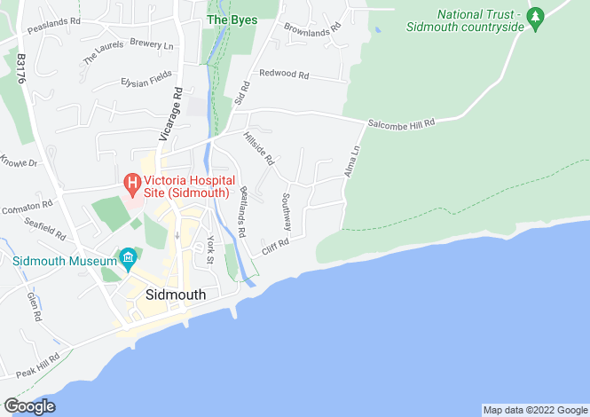 Map for Heatherby Southway, Sidmouth EX10