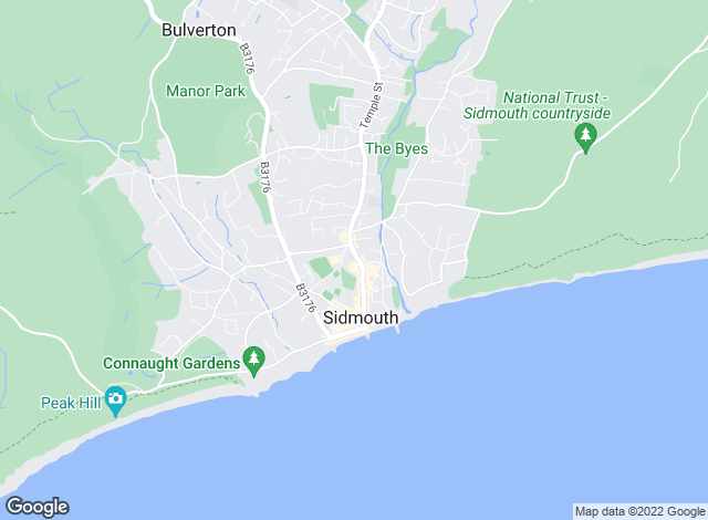 Map for Redferns, Sidmouth