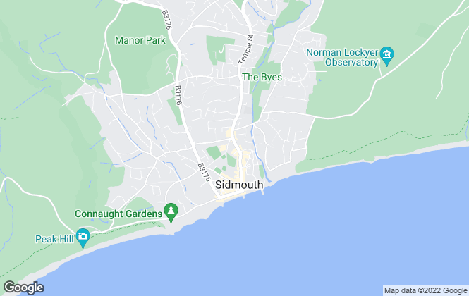 Map for Harrison-Lavers & Potbury's, Sidmouth