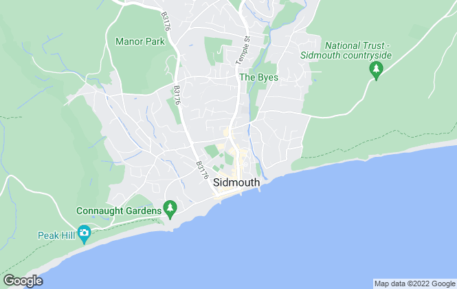 Map for Hall & Scott, Sidmouth
