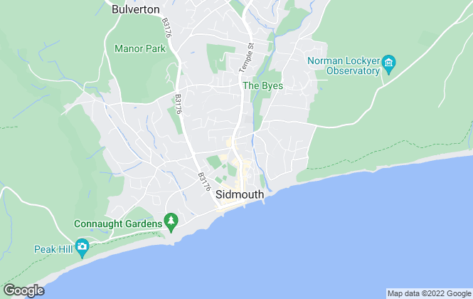 Map for Fulfords, Sidmouth