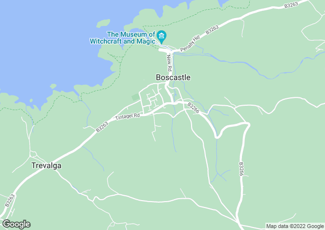 Map for Paradise Road, Boscastle, Cornwall