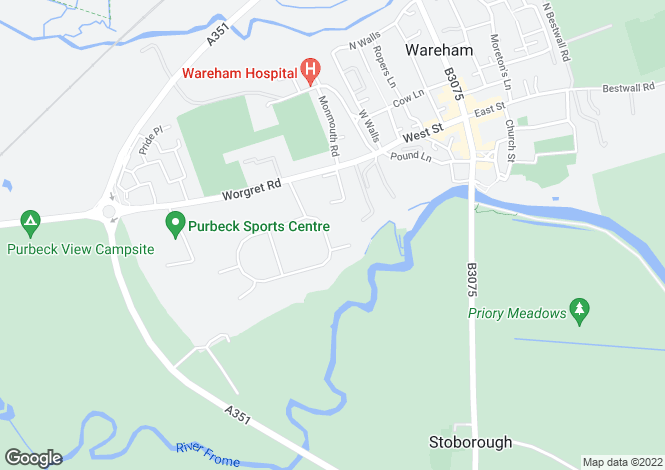 Map for Stowell Crescent, Wareham