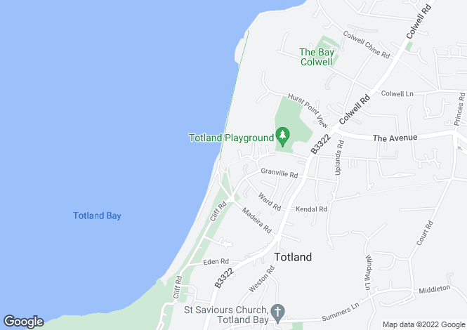 Map for Totland Bay