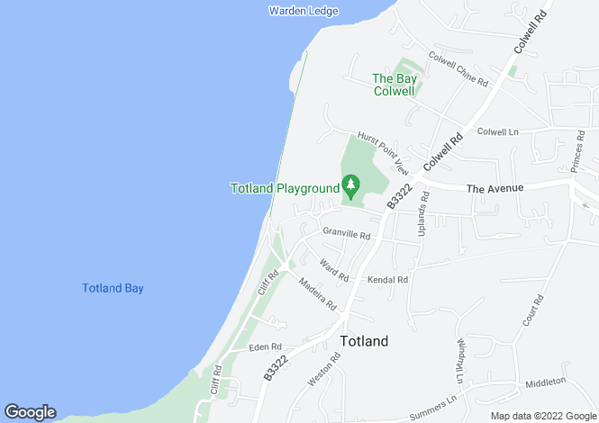 Map for Lanes End, Totland, Isle Of Wight