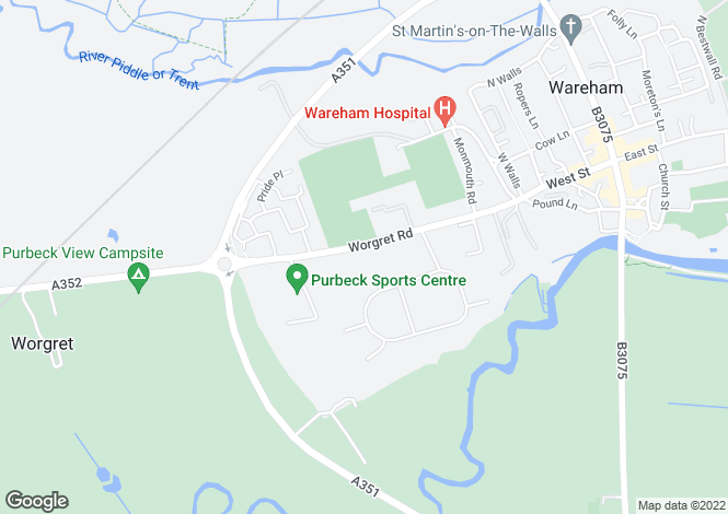 Map for Worgret Gardens, Worgret Road, Wareham