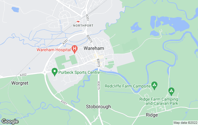 Map for Connells, Wareham