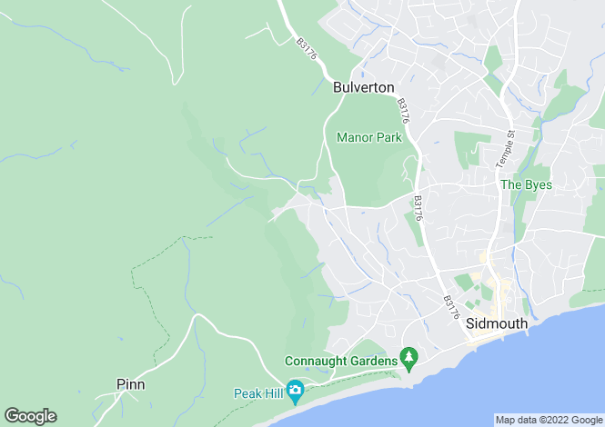 Map for Bickwell Valley, Sidmouth, Devon, EX10