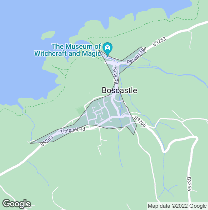 Map of property in Boscastle