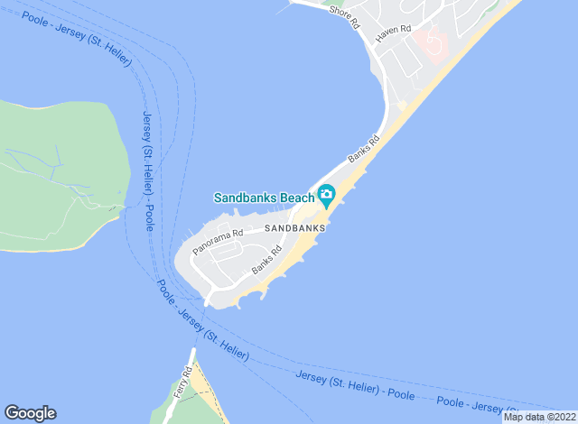 Map for Tailor Made, Sandbanks