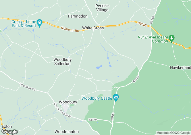 Map for Merehaven Manor, Woodbury Salterton, Exeter  EX4 1PY