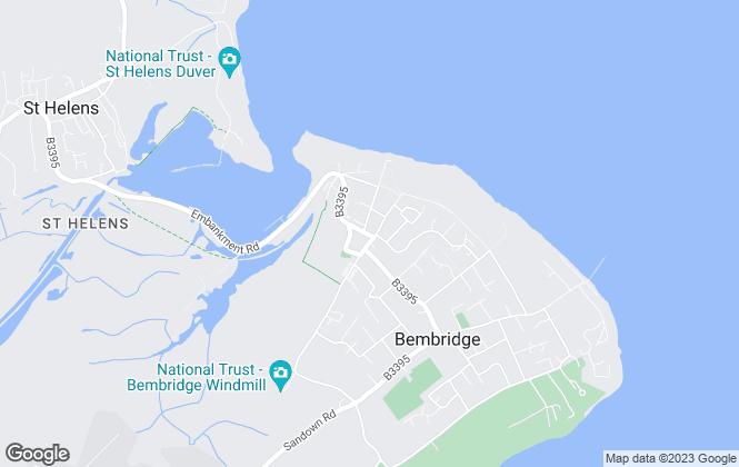 Map for Spence Willard, Bembridge