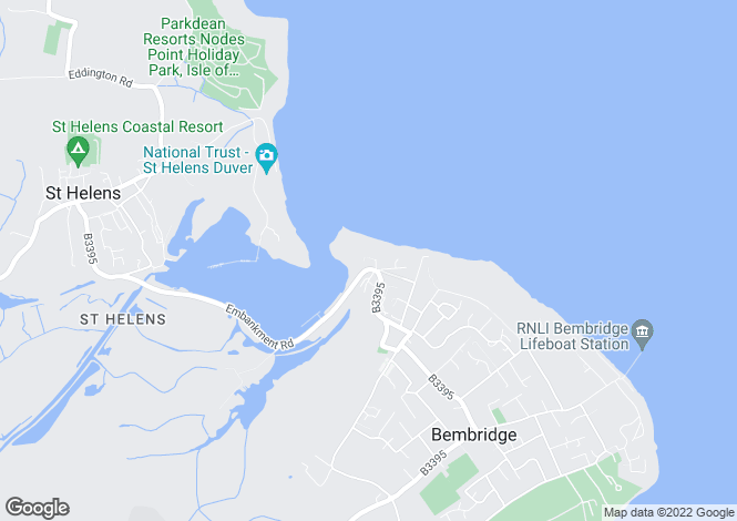 Map for Beach Road, Bembridge