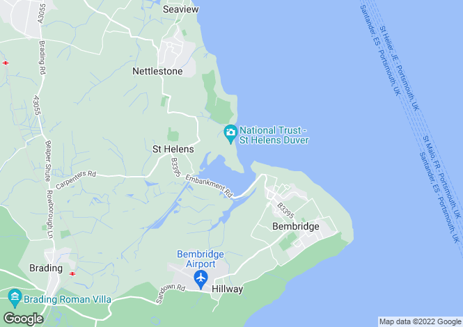 Map for The Duver, St Helens, Isle of Wight, PO33 1YB