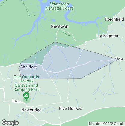 Map of property in Shalfleet