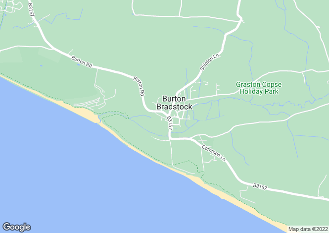 Map for Burton Bradstock, Bridport, Dorset