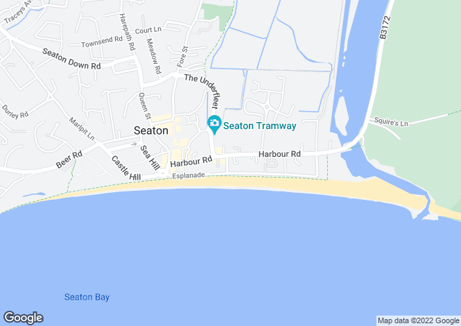 Map for Beach Road, Seaton
