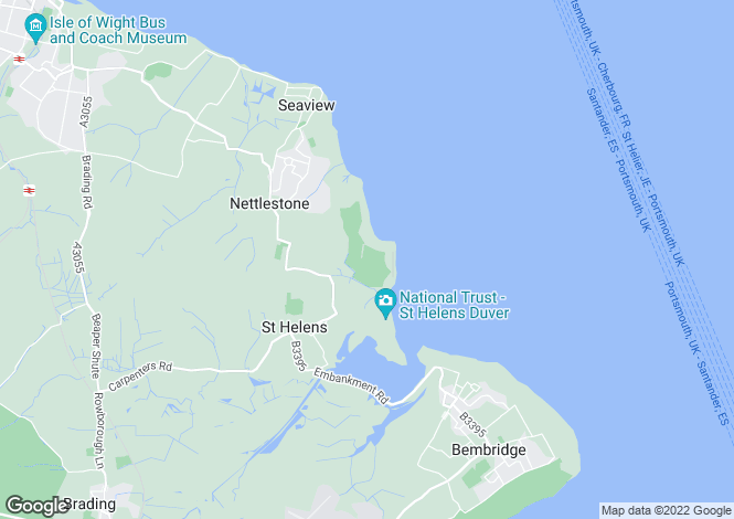 Map for St Helens      PO33 1YA