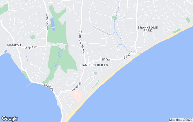 Map for Berkeleys, Canford Cliffs