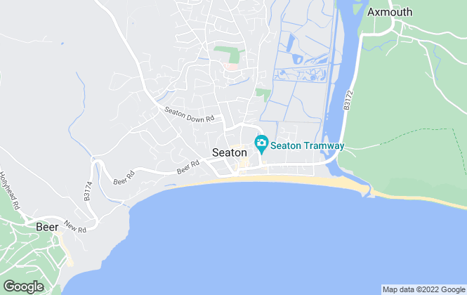 Map for Pennys, Seaton