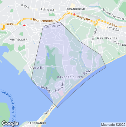Map of property in Canford Cliffs