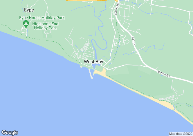 Map for Pier Terrace, West Bay, Bridport, DT6 4ER