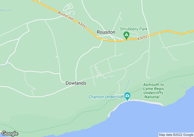 Map for Rousdon Estate, Lyme Regis