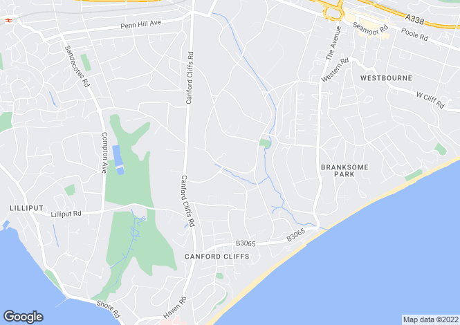 Map for Branksome Park, BH13