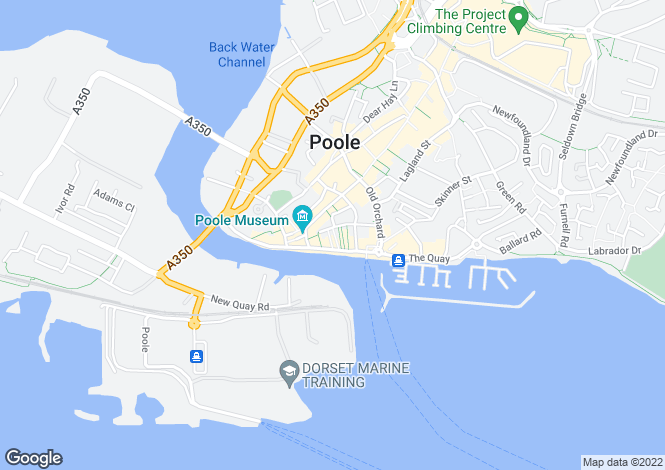Map for Strand Street, Poole