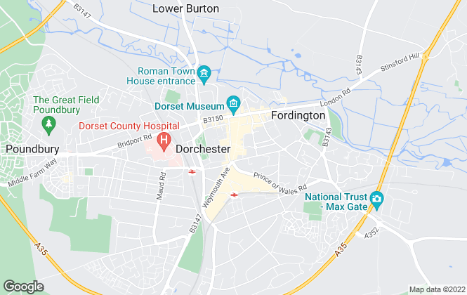 Map for Fox & Sons - Lettings, Dorchester Lettings