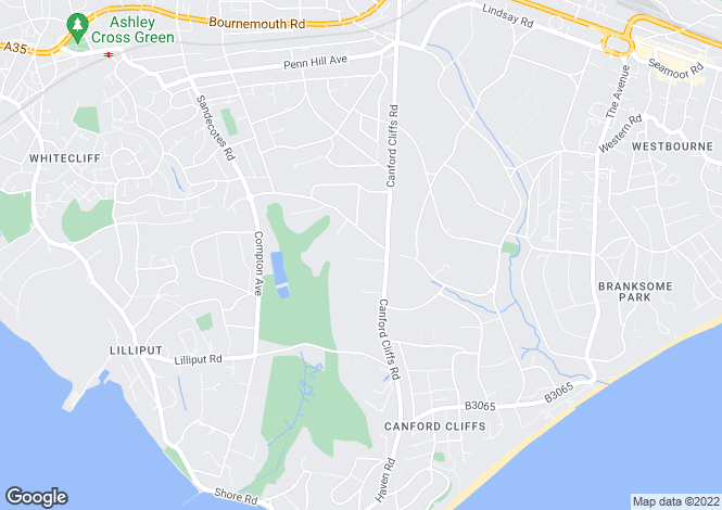 Map for Canford Cliffs, Poole, Dorset