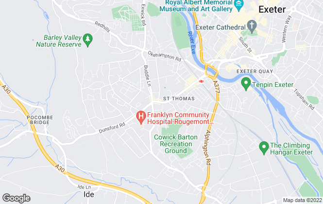 Map for Underhill Estate Agents, Exeter - Sales