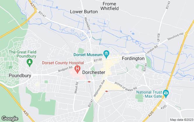 Map for Symonds & Sampson, Dorchester