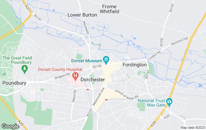 Map for Goadsby, Dorchester