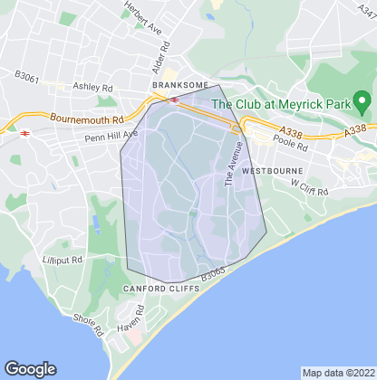 Map of property in Branksome Park