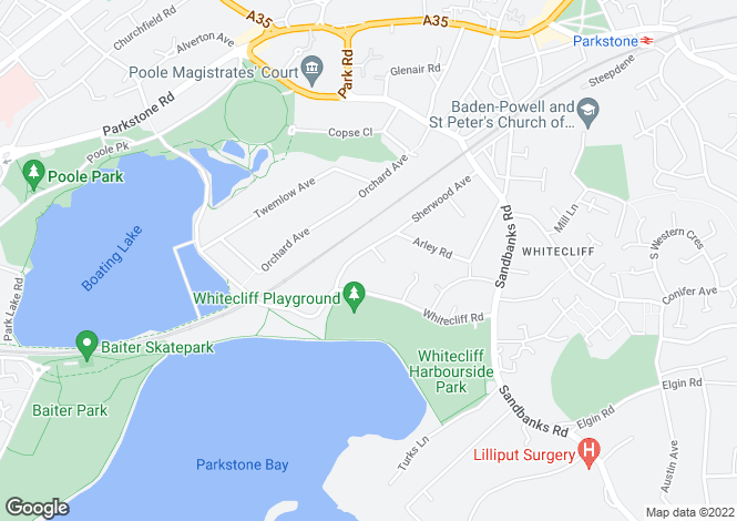 Map for Sherwood Avenue,