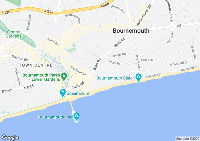 Map for 3 bedroom Purpose Built 9th Floor in Bournemouth Town Centre