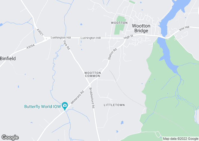 Map for Station Road, Wootton
