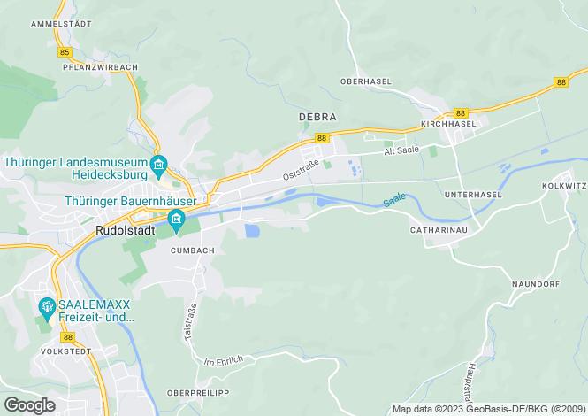 Map for Rudolstadt, Thuringia