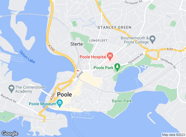 Map for Tailor Made Lettings, Poole