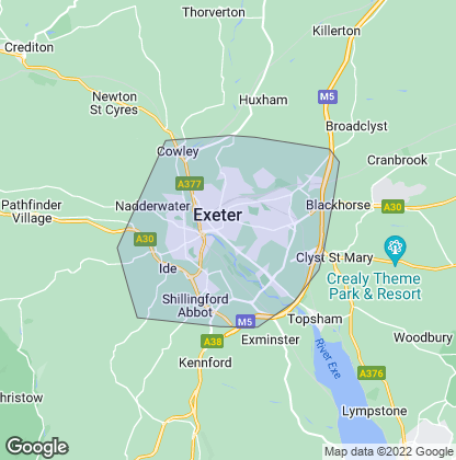 Map of property in Exeter