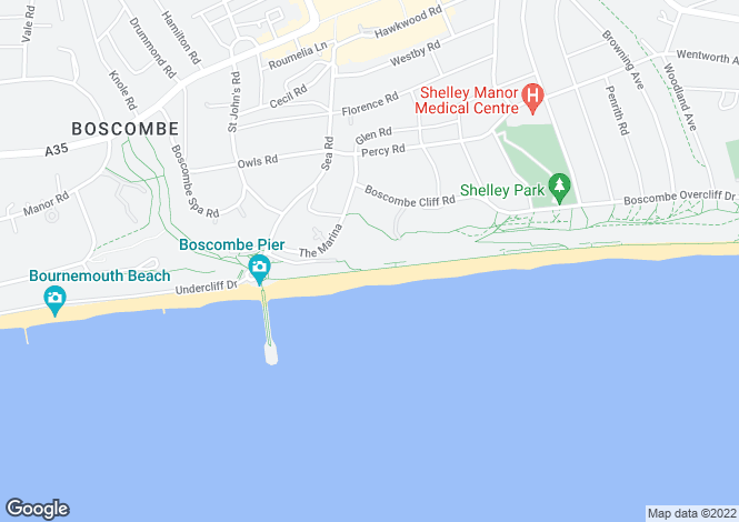 Map for Boscombe