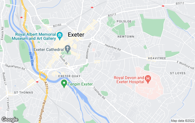 Map for Kingbourne & Co, Exeter
