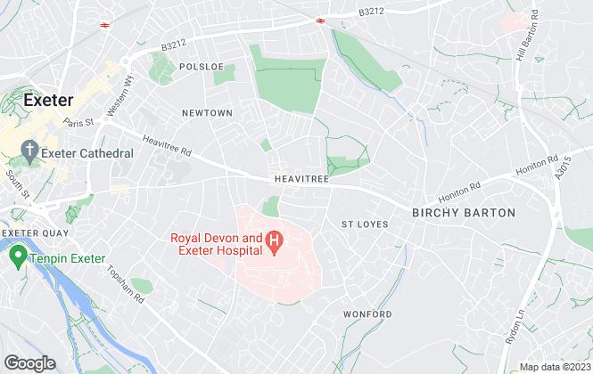 Map for Burgoynes Estate Agents, Exeter
