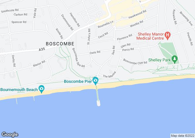 Map for Boscome Pier