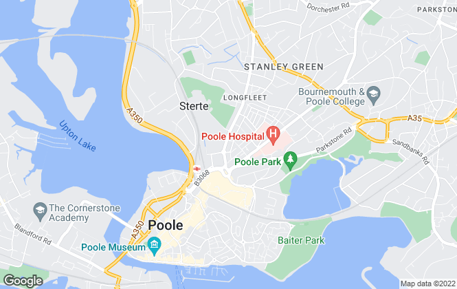 Map for Embarq, Poole