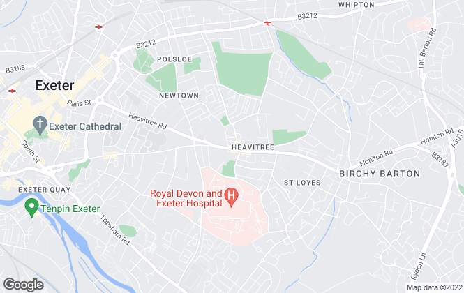Map for Fulfords Lettings, Exeter (Fore Street)