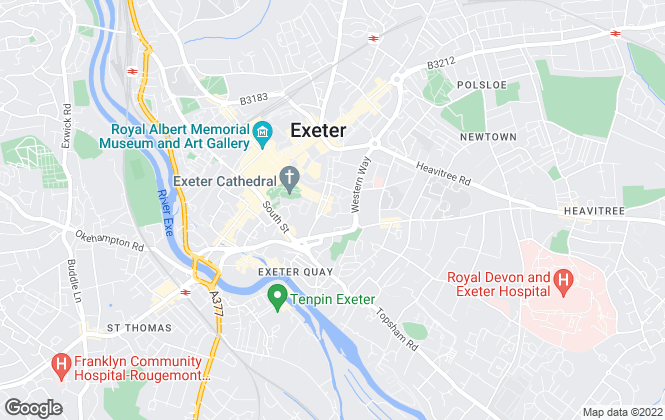 Map for Jones Lang Lasalle Exeter , JLL Pubs & Hotels