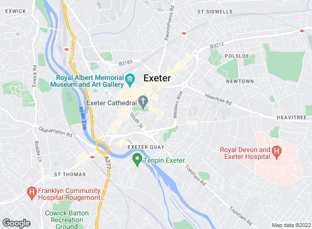 Map for Jackson-Stops & Staff, Exeter